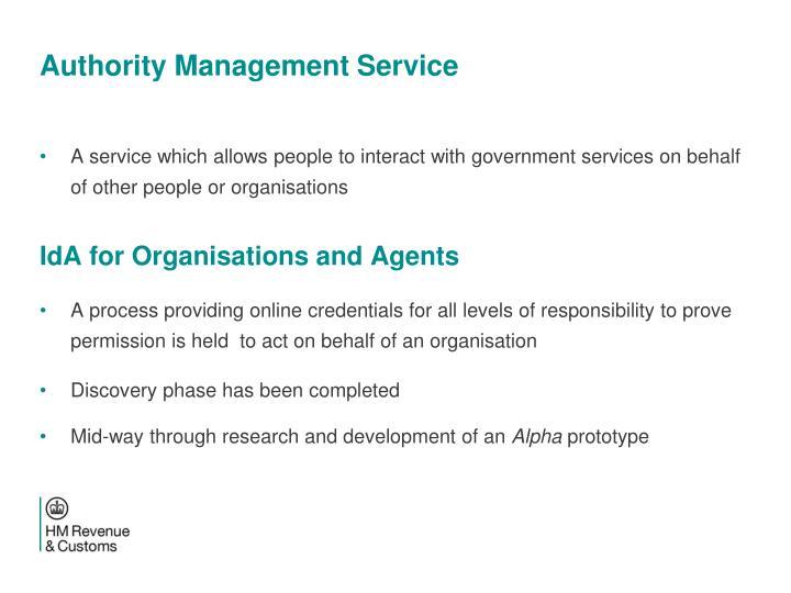 Authority Management Service
