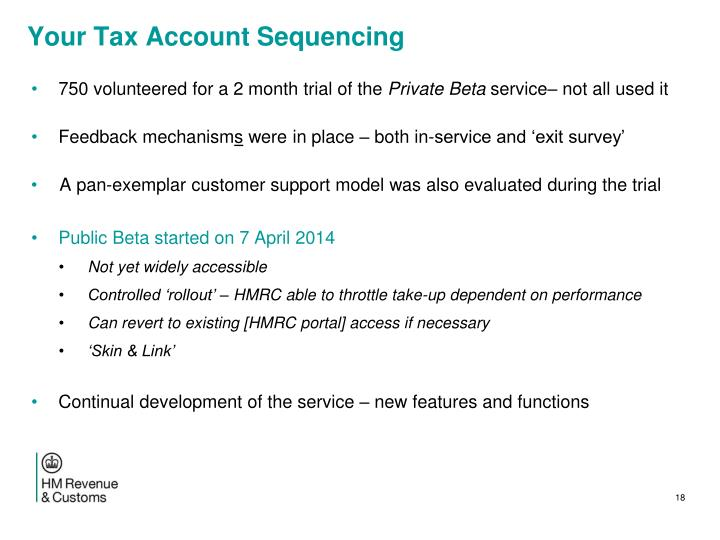 Your Tax Account
