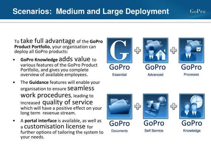 Scenarios:  Medium and Large Deployment