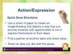 action expression