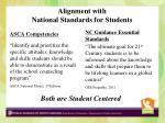 alignment with national standards for students