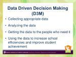 data driven decision making d3m
