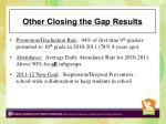 other closing the gap results