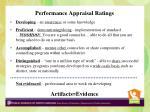 performance appraisal ratings