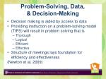 problem solving data decision making