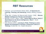 rbt resources