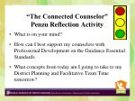 the connected counselor penzu reflection activity