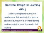 universal design for learning udl is