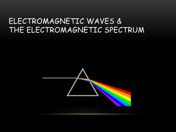 electromagnetic waves the electromagnetic spectrum n.