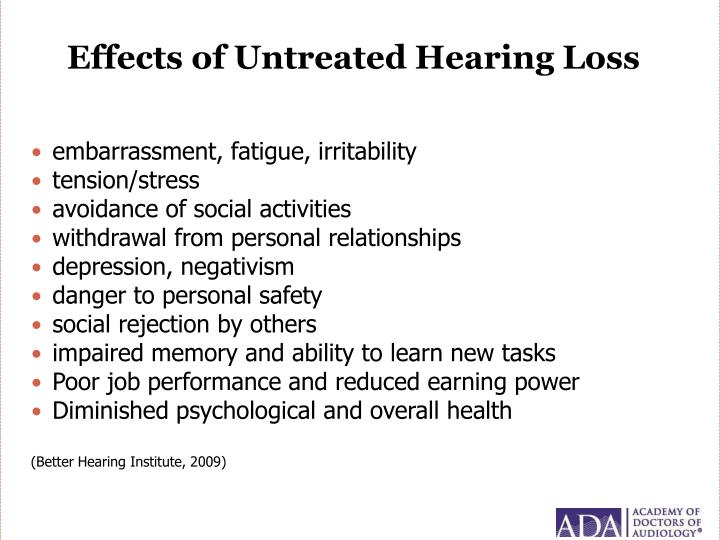 Effects of Untreated Hearing Loss