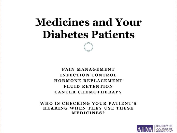 Medicines and Your