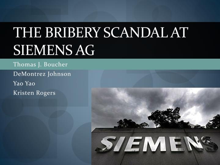 the bribery scandal at siemens ag n.