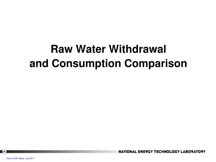 Raw Water Withdrawal