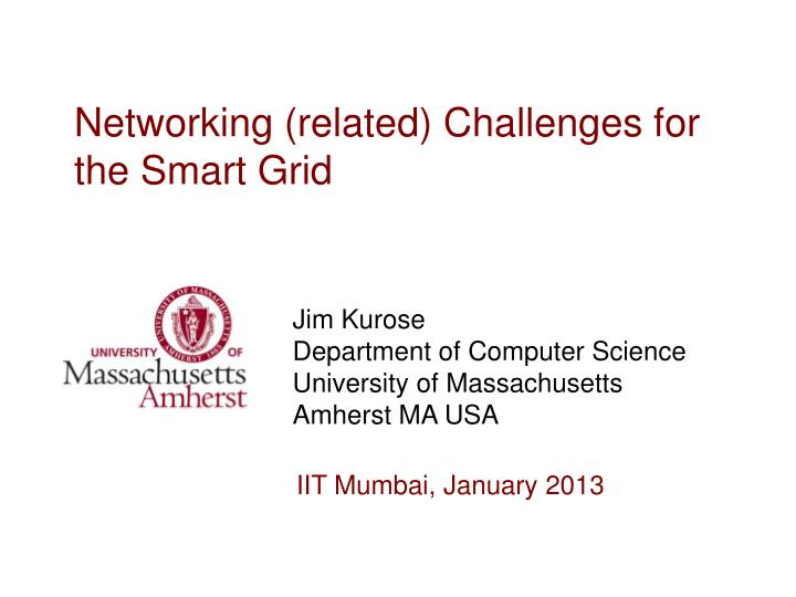 networking related challenges for the smart grid n.