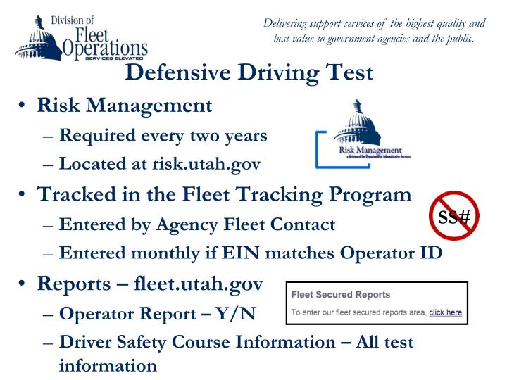 Defensive Driving Test