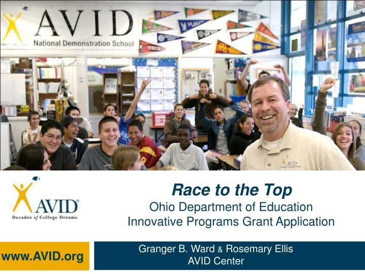 race to the top ohio department of education innovative programs grant application n.