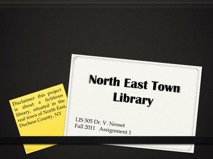 north east town library n.