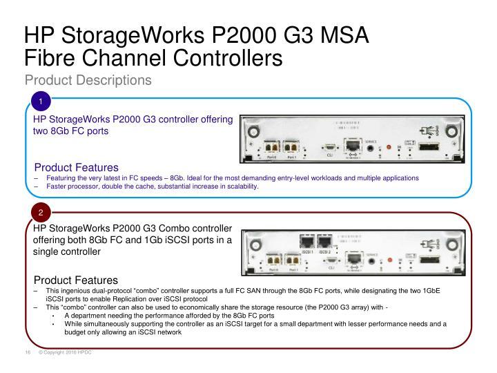 HP StorageWorks P2000 G3 MSA