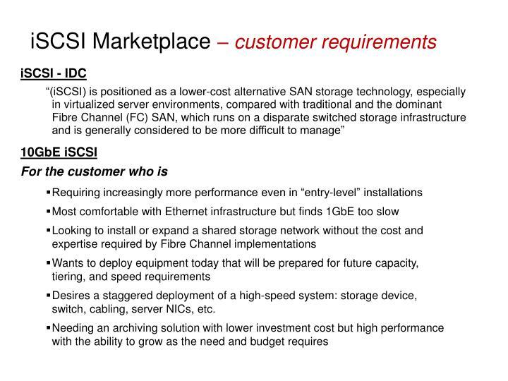 iSCSI Marketplace