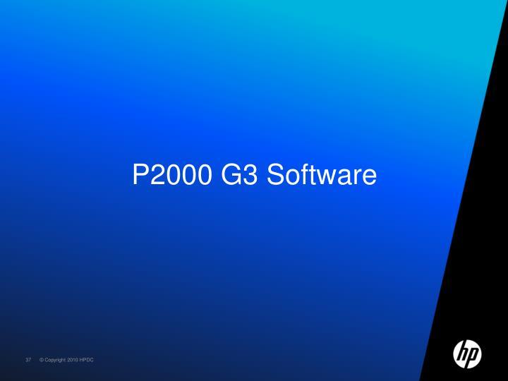 P2000 G3 Software