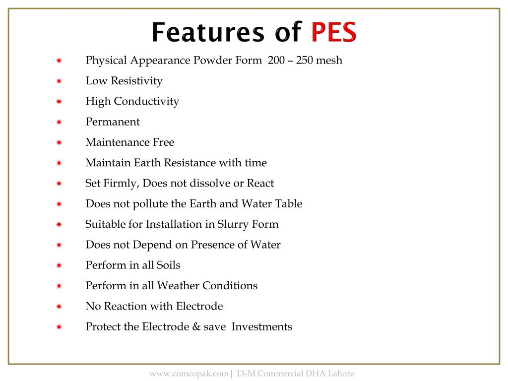 PPT - PERMANENT Earthing SOLUTION (PES) PowerPoint