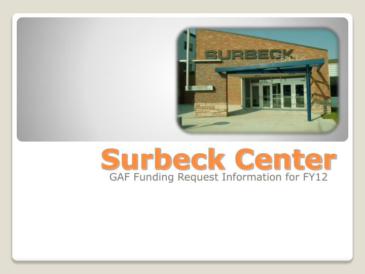 surbeck center n.