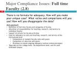 major compliance issues full time faculty 2 8