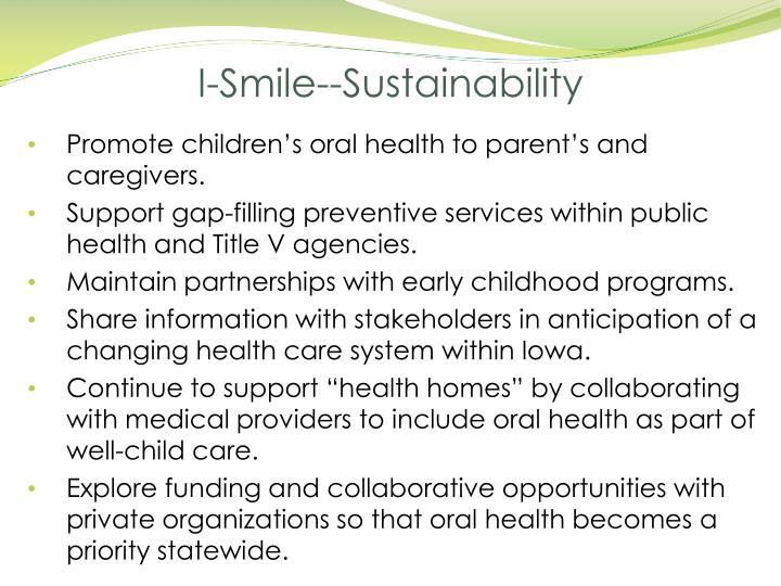 I-Smile--Sustainability