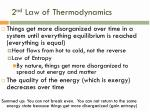2 nd law of thermodynamics