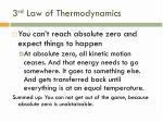 3 rd law of thermodynamics