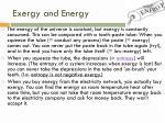 exergy and energy