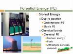 potential energy pe