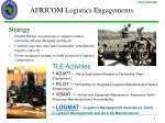 africom logistics engagements
