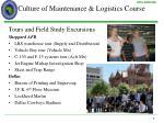 culture of maintenance logistics course2