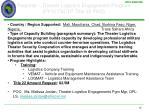 regional theater logistics engagement program fy12 tsctp title 22 pko
