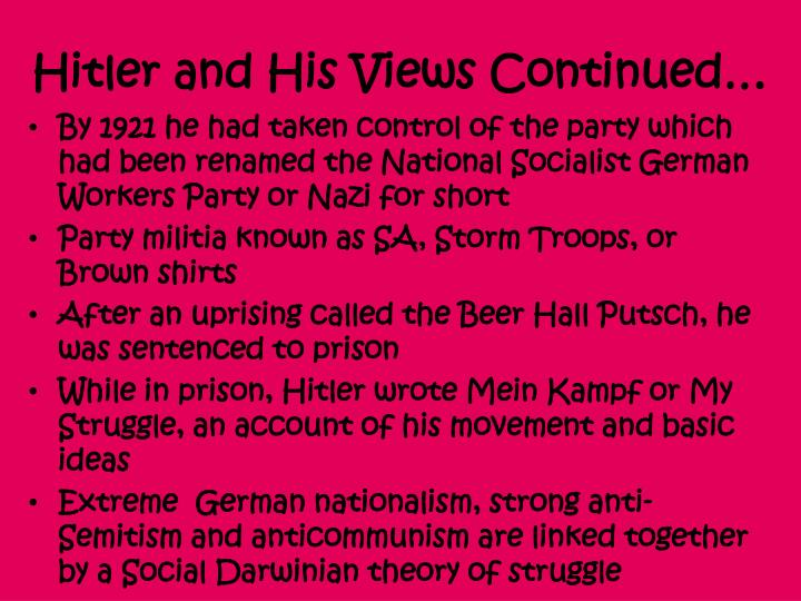 ib history essay nazi ideology This revision guide will prepare you for writing effective essays for ibdp history paper 2, topic 10: authoritarian states, using nazi germany (1918-1945) as a specific example it provides a comprehensive survey of events and themes, with insights on how to use that historical detail to write effective essays.
