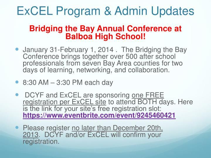 Excel program admin updates1
