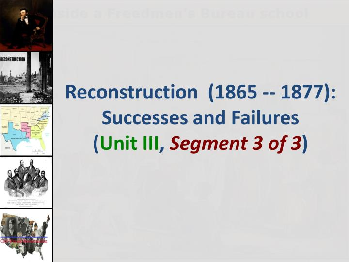was the reconstruction period a failure