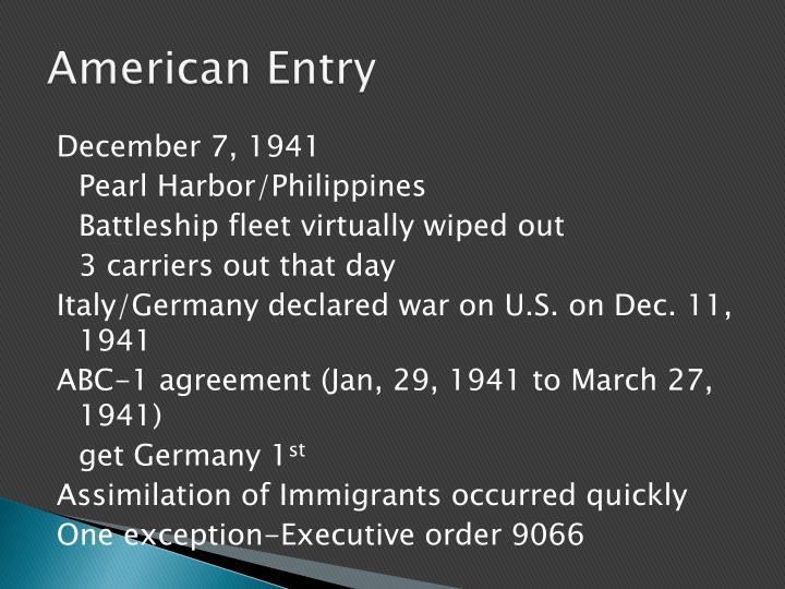 American Entry