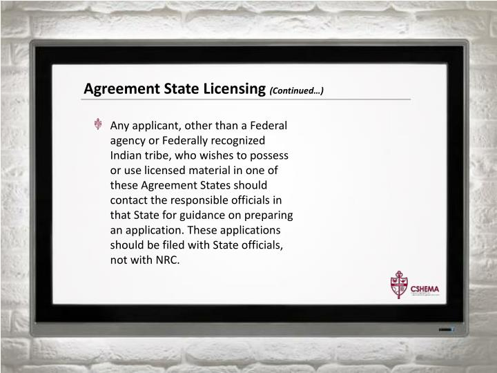 Agreement State