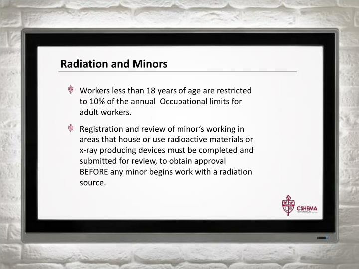 Radiation and Minors