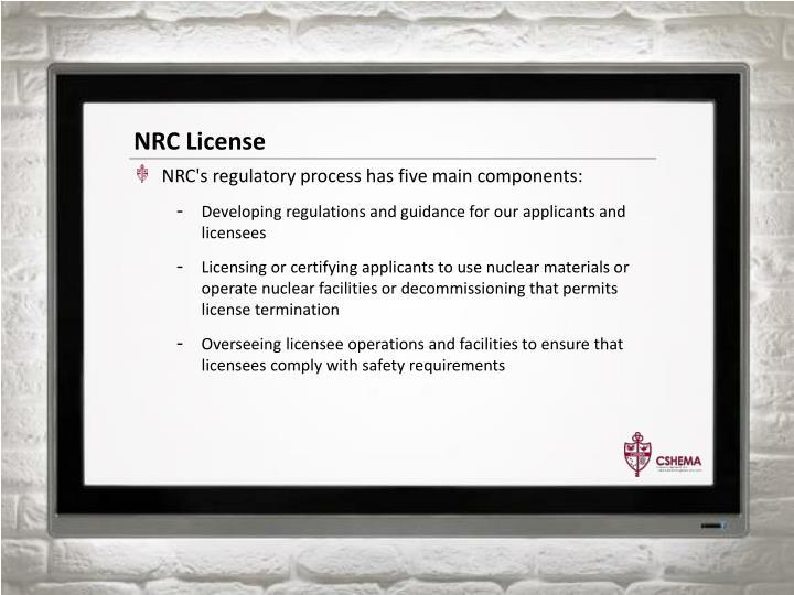 NRC License
