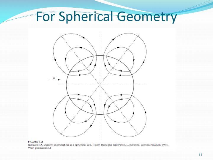 For Spherical Geometry