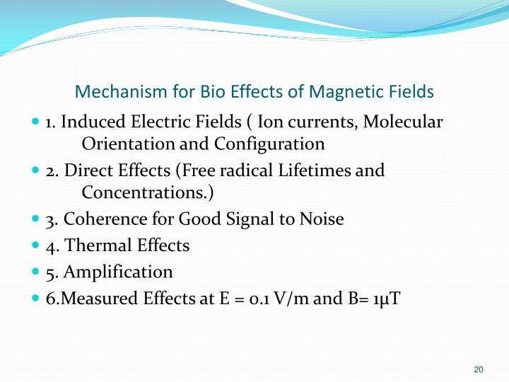 Mechanism for Bio Effects of Magnetic Fields
