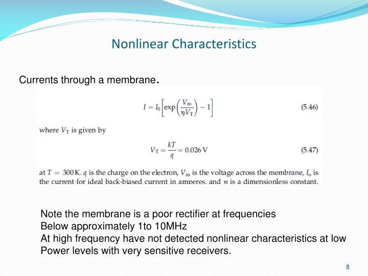 Nonlinear Characteristics