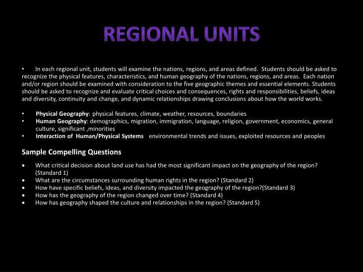 Regional Units