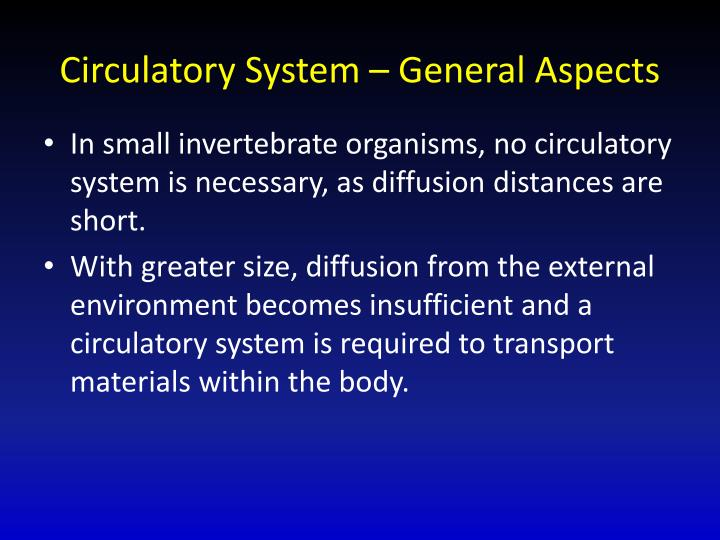 circulatory system general aspects n.
