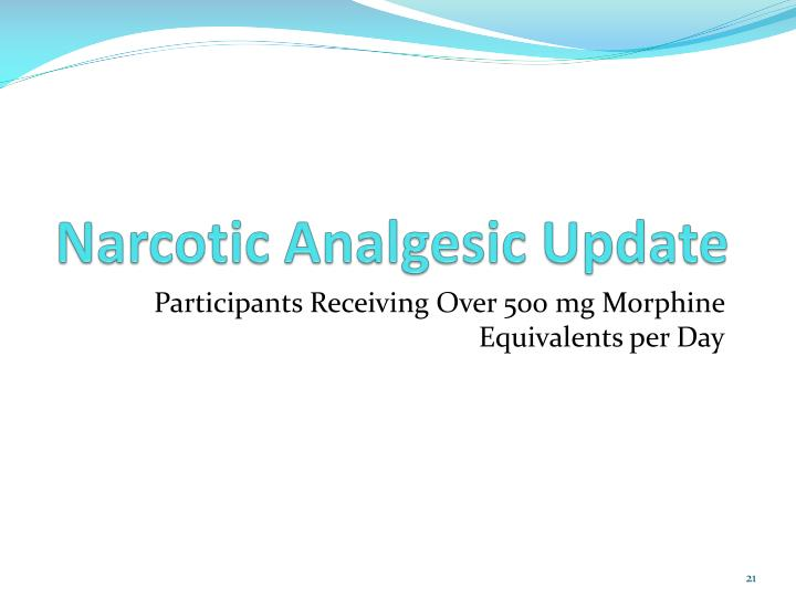 Narcotic Analgesic Update