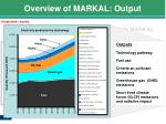 overview of markal output