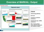 overview of markal output1